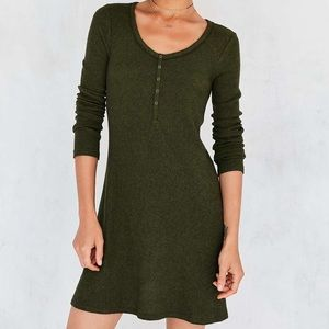 Urban Outfitters Henley Long Sleeve Mini Dress